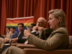 Deborah Buter, Wilmington Attorney, talks about her stance on HB2 at the LGBTQ Panel Friday evening.