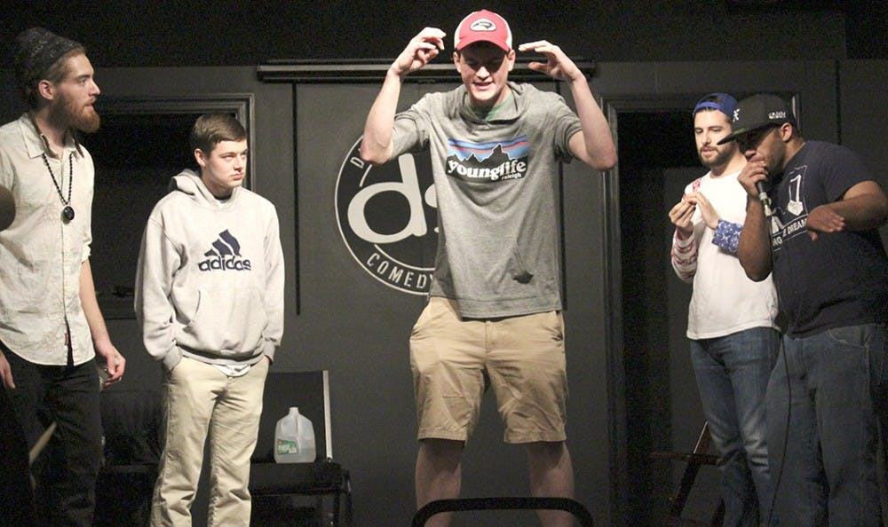 DSI Comedy Theatre hosts the UNC Cyphers as they take the stage and the microphone.