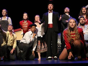 """Company Carolina's production of """"The Producers"""" is being held at Historic Playmakers' Theater this weekend."""