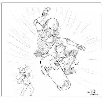 Cartoon: Skater
