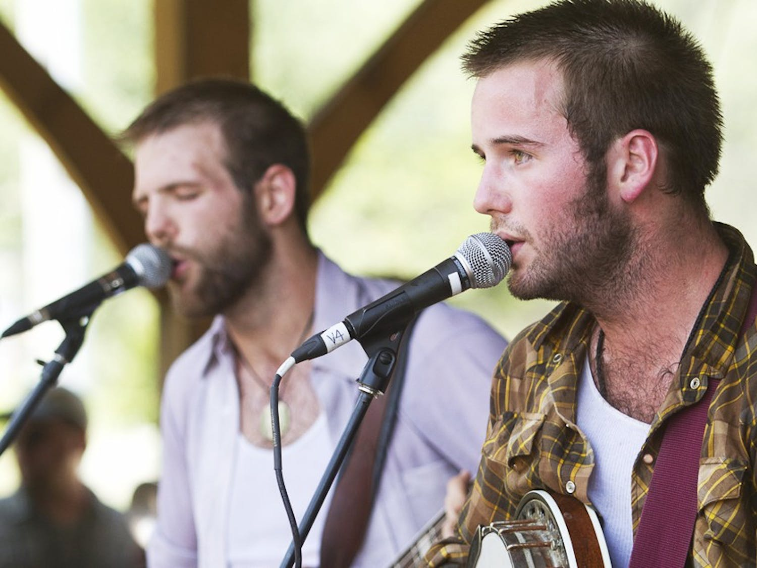 Members of Holy Ghost Tent Revival will back up Mike Quinn at this weekend's Shakori Hills GrassRoots Festival.