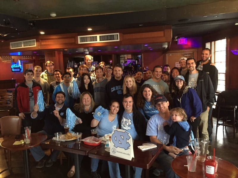Boston Carolina Club watching the FSU football game at The Point.Photo courtesy ofAime Goldberg Macdonald