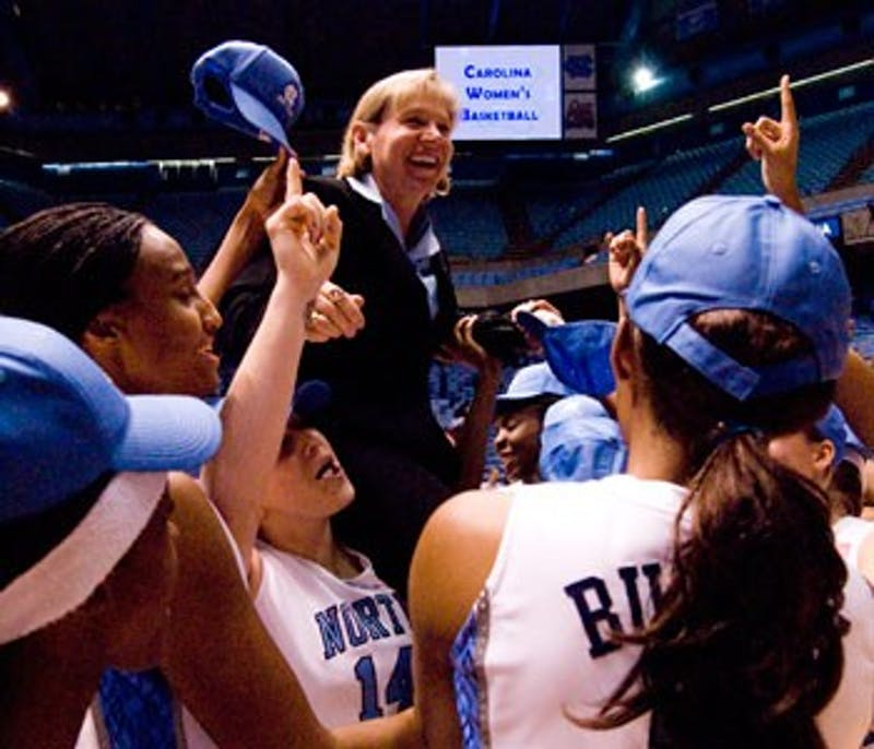 """Sylvia Hatchell?s 800th career win was a victory Sunday against N.C. State ? her 500th"""" 600th and 700th wins also came against the Wolfpack."""