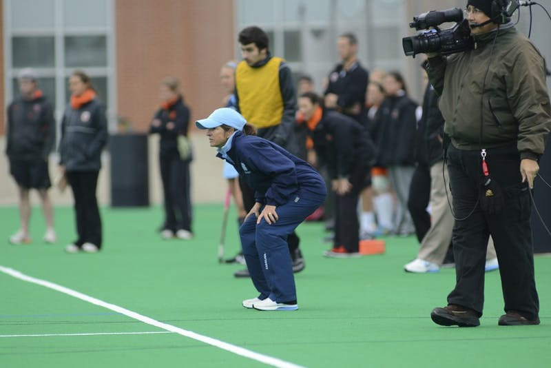 North Carolina field hockey coach Karen Shelton became the head coach of the Tar Heels while she was still a player in 1981. Five years later in 1986, she led the team to its first Final Four.