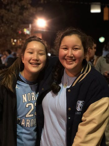 Amelie (left) and Lex Coelho started an online forum for Chapel Hill-Carrboro residents to ask for and receive help during the coronavirus epidemic. Photo courtesy of Lex Coelho.