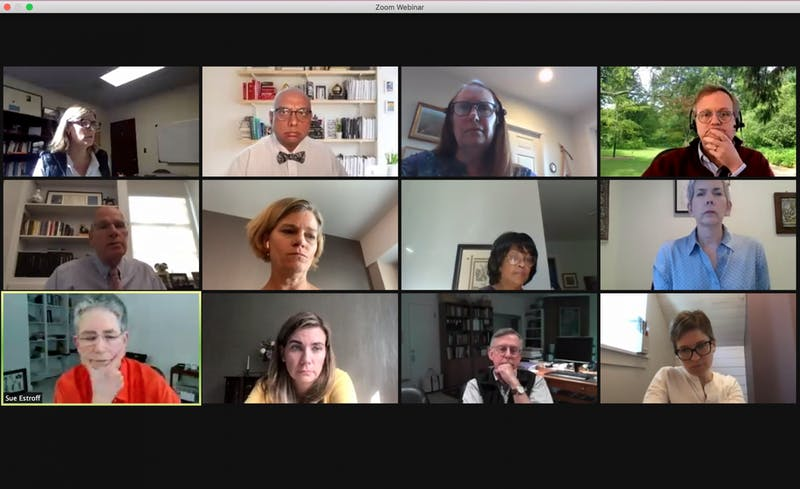 Screenshot from the Faculty Executive Committee meeting on Monday, Oct. 19, 2020.