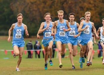 The men's cross country team begins their 10k race at the NCAA Southeast Regional Championships at Winthrop University in Rock Hill, SC on Friday, Nov. 9 2018.