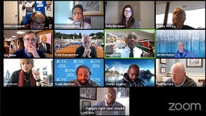 Screenshot from the virtual Campus Safety Commission meeting on Wednesday, Feb. 3, 2021.