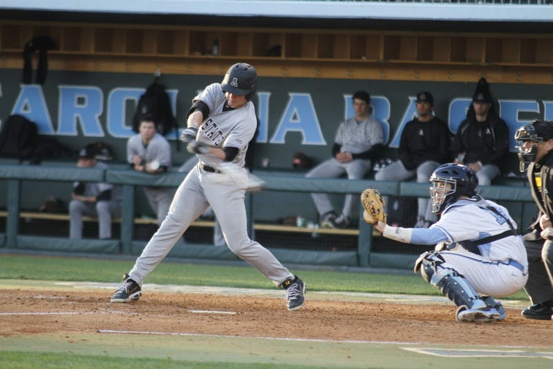 UNC beat Appalachian State 12-1 on Tuesday Feb. 25, 2014. The Diamond Heels extend their record to 4-3.
