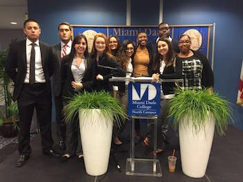 National Model United Nations members from Miami Dade College runs mock MUN stimulation. Photo courtesy of Michelle Dixon.