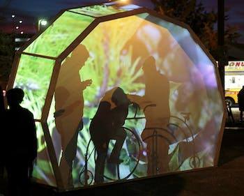 Carrboro hosted Shimmer, a one-night art exhibition centered around light, on Friday night.