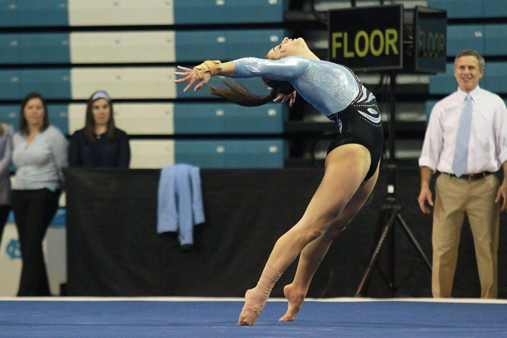 Gymnastics falls in opener, still encouraged for future