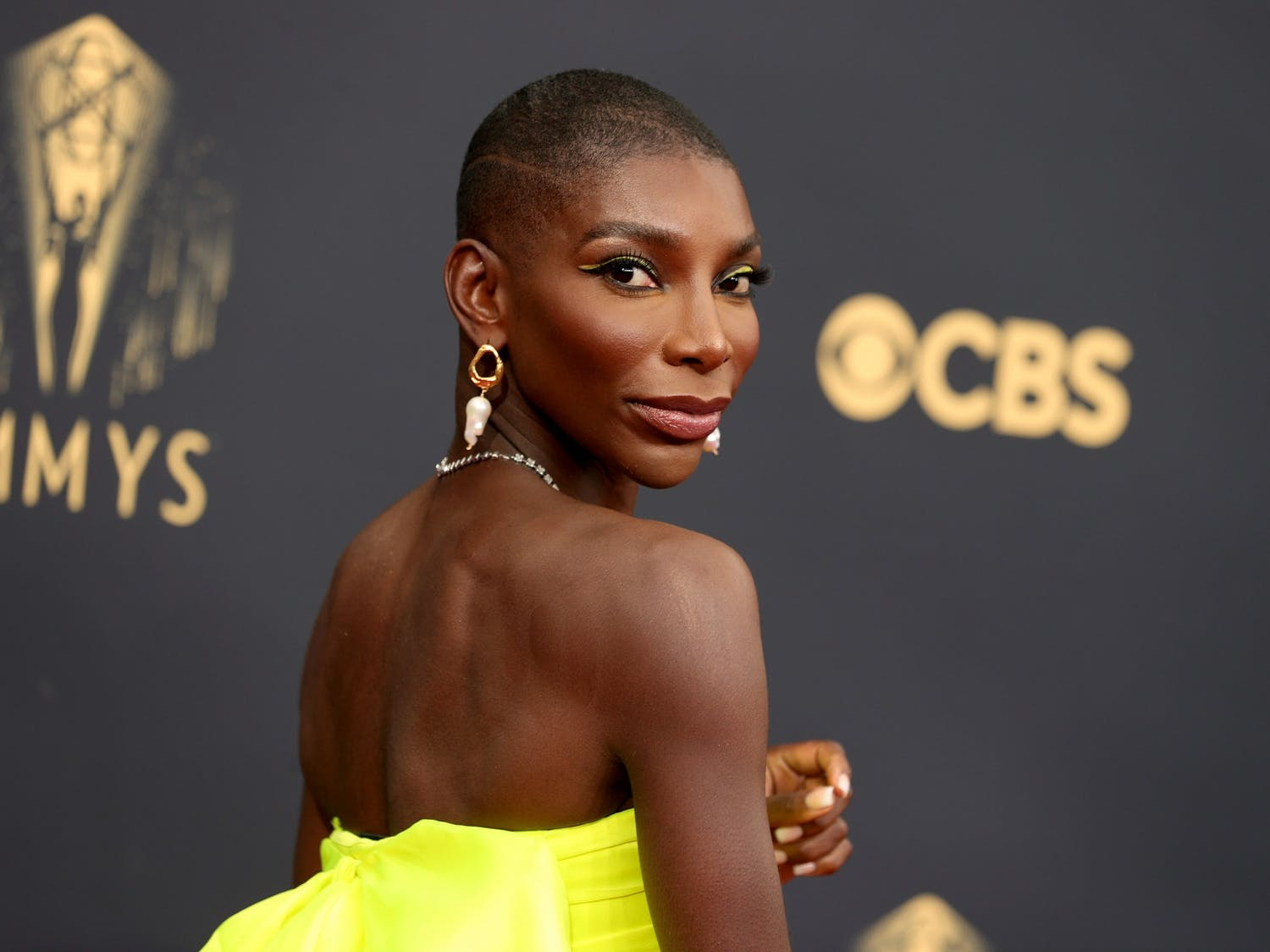 Michaela Coel attends the 73rd Primetime Emmy Awards at L.A. LIVE on Sunday, September 19, 2021, in Los Angeles. Photo courtesy of Rich Fury/Getty Images/TNS.