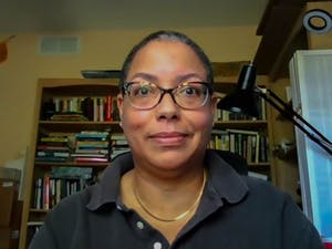 Jeannette Porter, alumna of the Hussman school, and Assistant Professor at the Missouri School of Journalism, poses for a virtual portrait in her office on Friday, June 4, 2021. Porter signed a letter created by Jeff Jarvis to protest against the action of the UNC Board of Trustees, in support of Nikole Hannah-Jones.