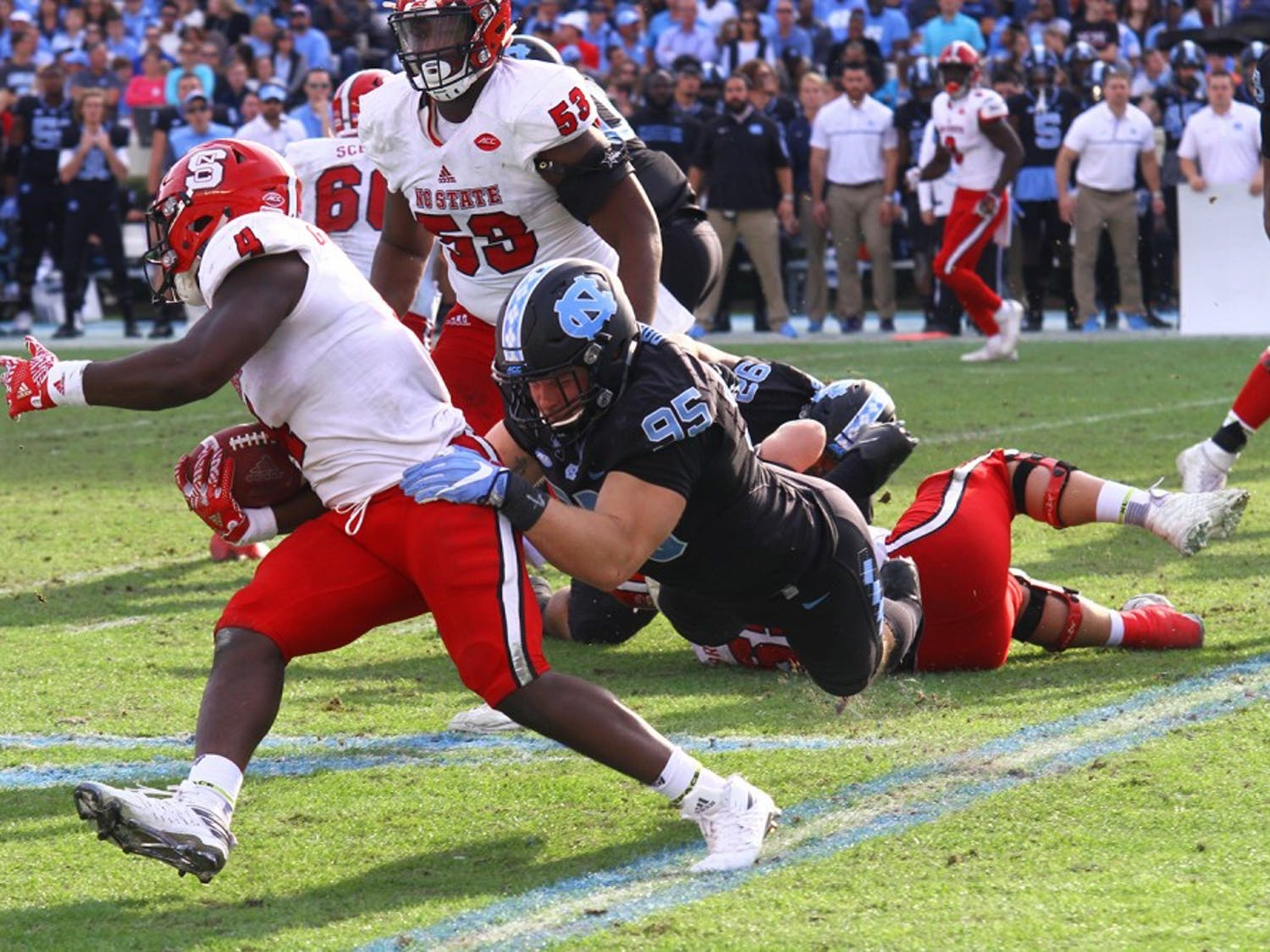 The Tar Heels fell to N.C. State 28-21 Friday afternoon at Kenan Stadium.