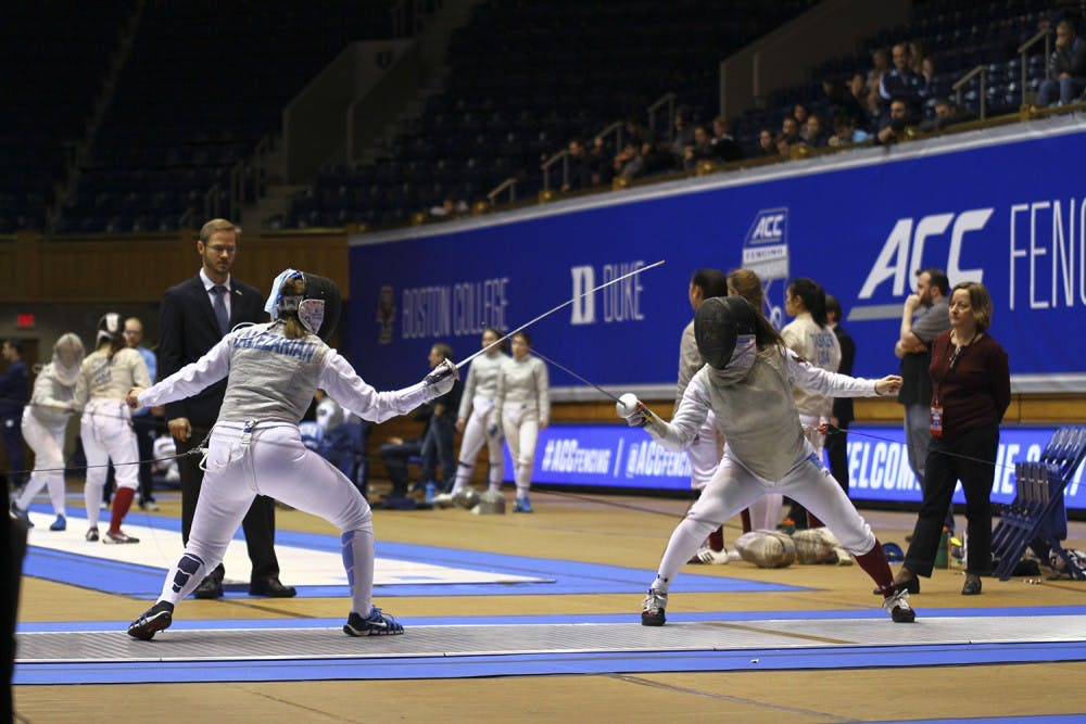 North Carolina fencing teams combine to fare 16-6 at Northwestern Duals
