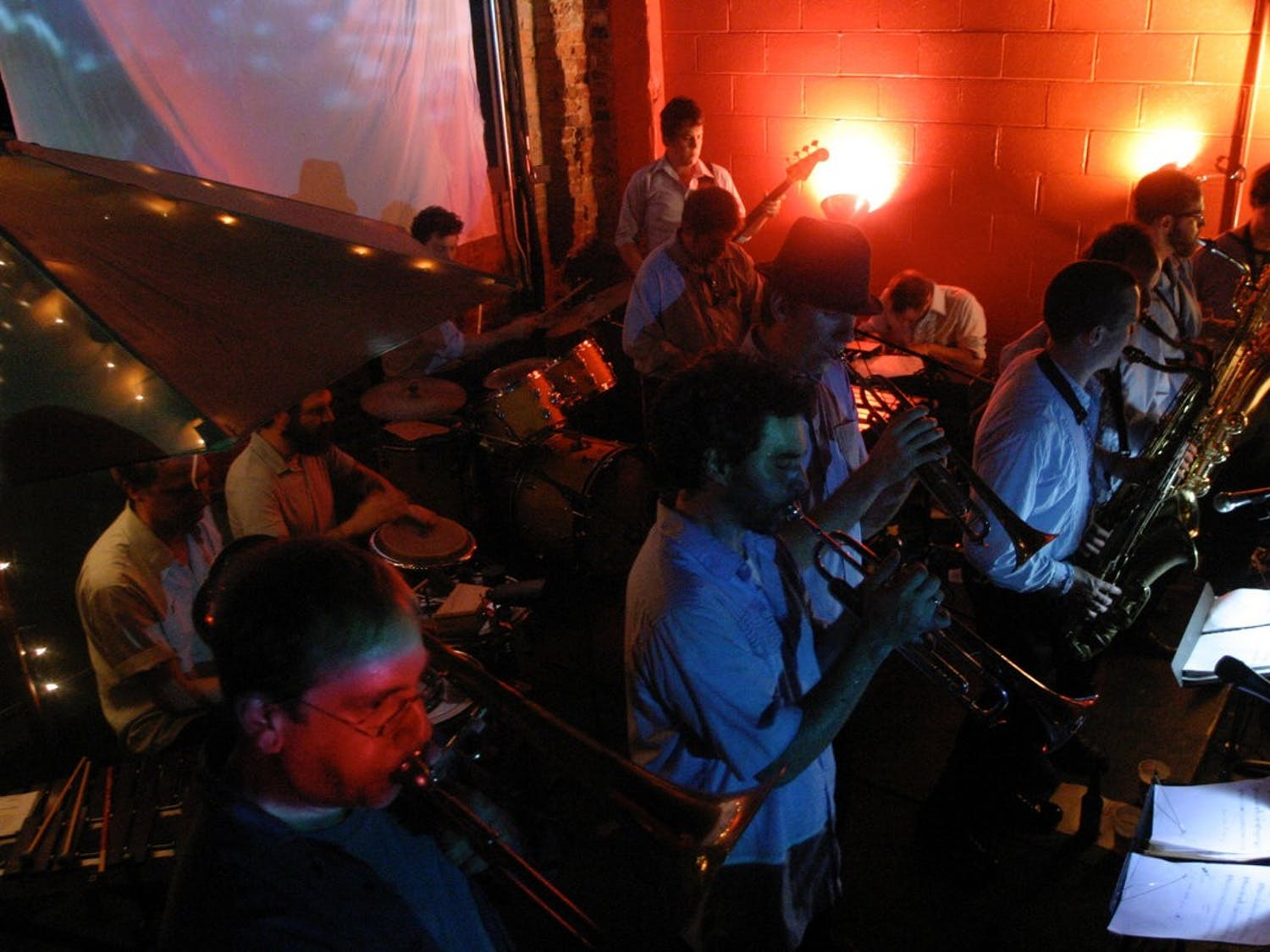 """Durham-based band D-Town Brass released its newest album """"Demiurge"""" on Dec. 9, 2020, and it is now available in digital and CD format. Photo courtesy of Andrew Magowan."""