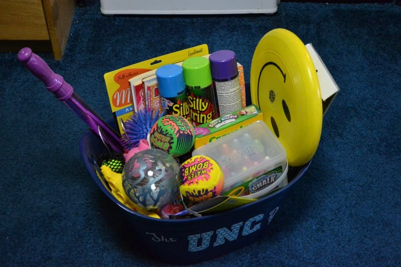 One example of a de-stress box. A de-stress box is a great way to take a break from hours of constant studying.