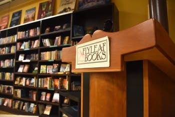 Flyleaf Books is located on Martin Luther King Jr. Blvd., in Chapel Hill, North Carolina.