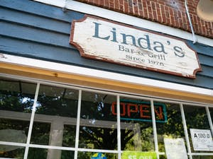 Linda's open sign was unlit on Sunday, Aug. 30, 2020 due to the restaurant closing because of the COVID-19 pandemic and rising case numbers.