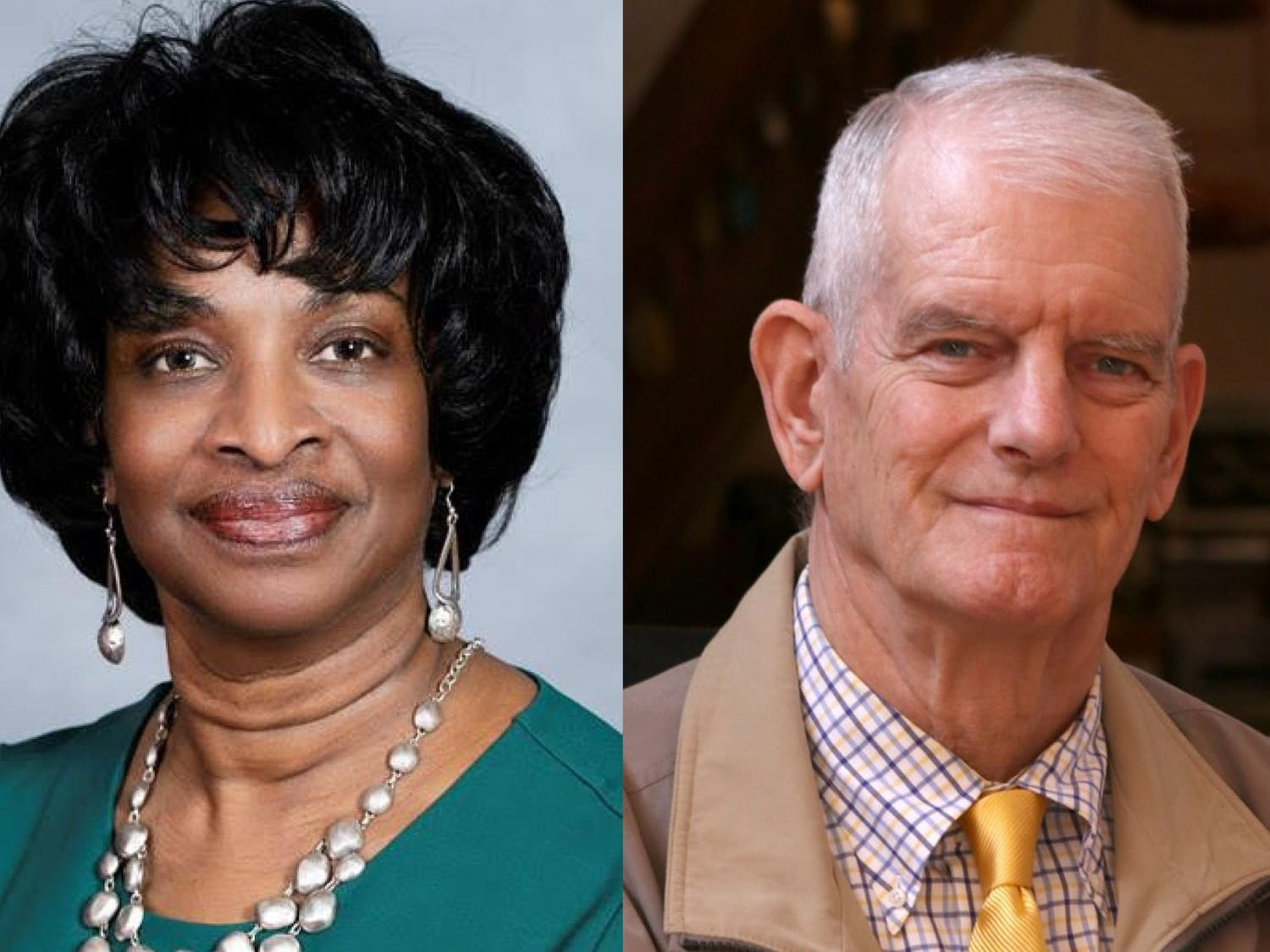 Incumbent N.C. senator Valerie Foushee (left), Democrat, and N.C. businessman Tom Glendinning, Republican, are the candidates for N.C. State Senate District 23. Photos courtesy of Foushee and Glendinning.