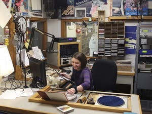 ElizabethHolland is a DJ at the student run radio station,WXYC-Chapel Hill.