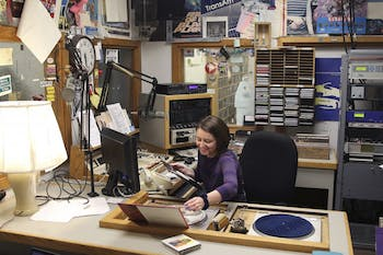 Elizabeth Holland is a DJ at the student run radio station, WXYC-Chapel Hill.