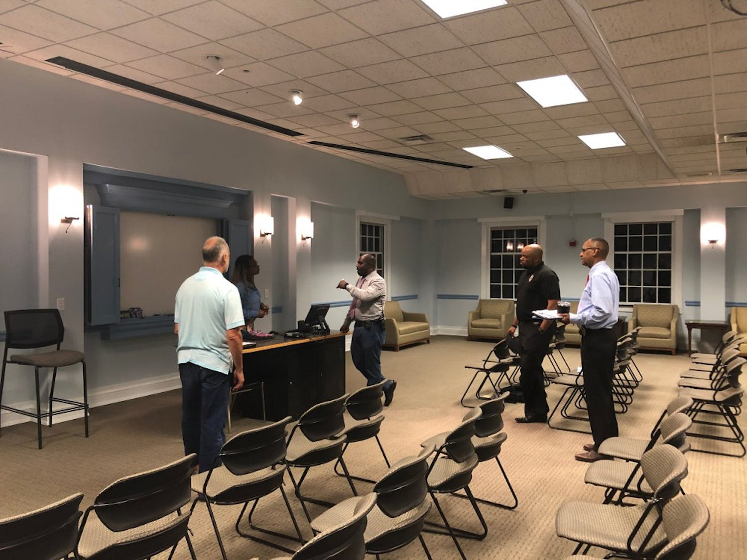 At a sparsely-attended listening session on Monday, Sept. 30, 2019, officers and Campus Safety Commission members discussed a lack of trust in the police following Silent Sam-related protests.