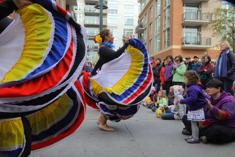 The Huepa Culture & Arts Institute performed a traditional Latin American dance Sunday afternoon on West Franklin St.