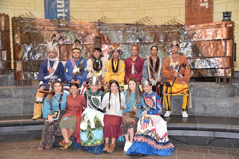 Members of the Lumbee Tribe pose in traditional clothing. Photo courtesy of Jinnie Lowery of the Lumbee Tribe.