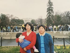 A 1-year-old Victoria Song with her mother and grandmother during a trip to Washington, D.C. in 2002. Photo courtesy of Victoria Song.