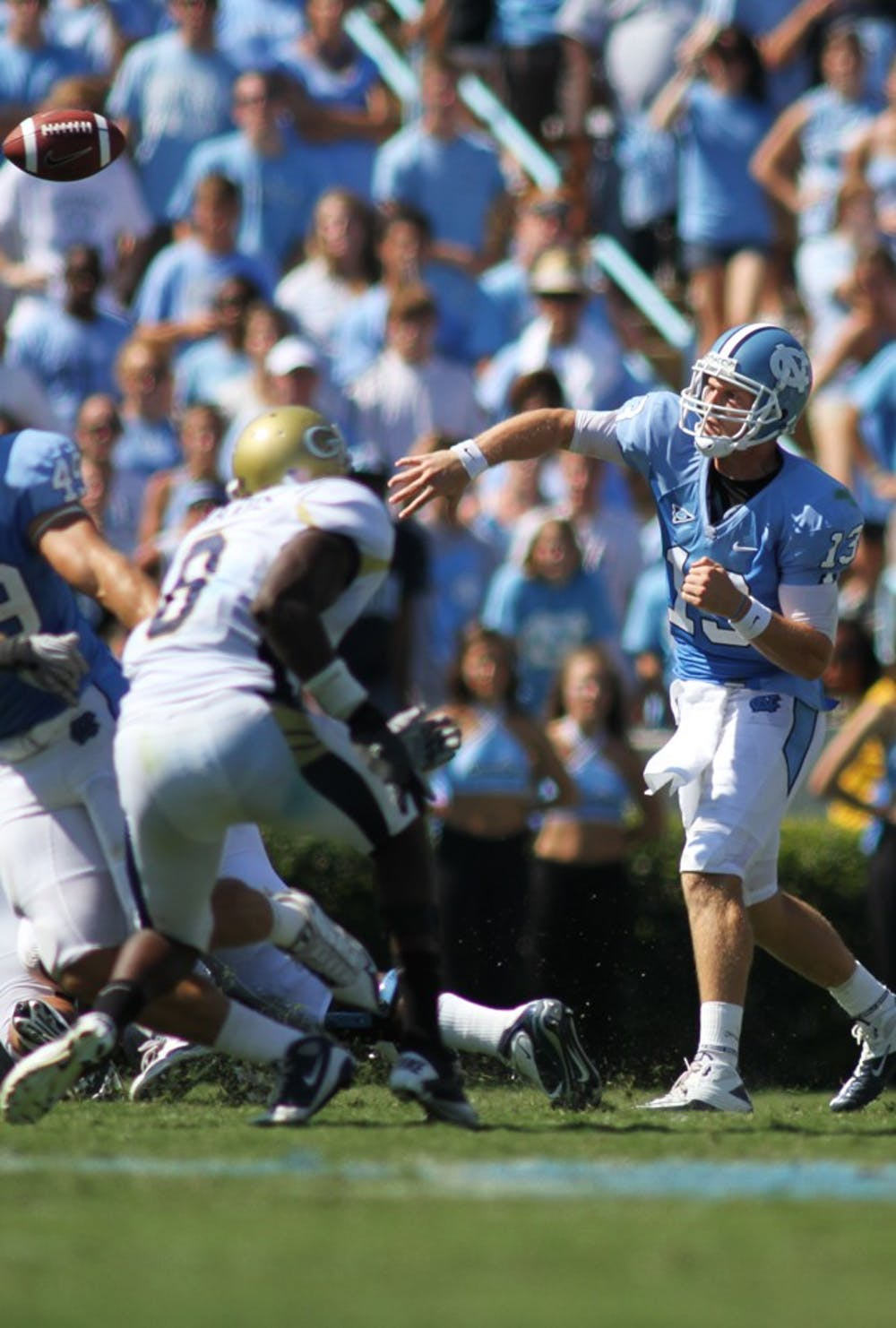 T.J. Yates threw for 221 yards in UNC's last meet with Rutgers two years ago when he had future NFL receivers Brandon Tate and Hakeem Nicks.