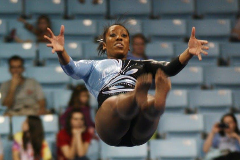 UNC gymnasts grab ?fth EAGL title, earn NCAA berth
