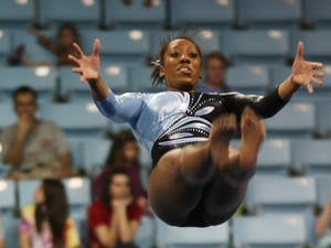 Gymnastic photos from the meet on Saturday before spring break
