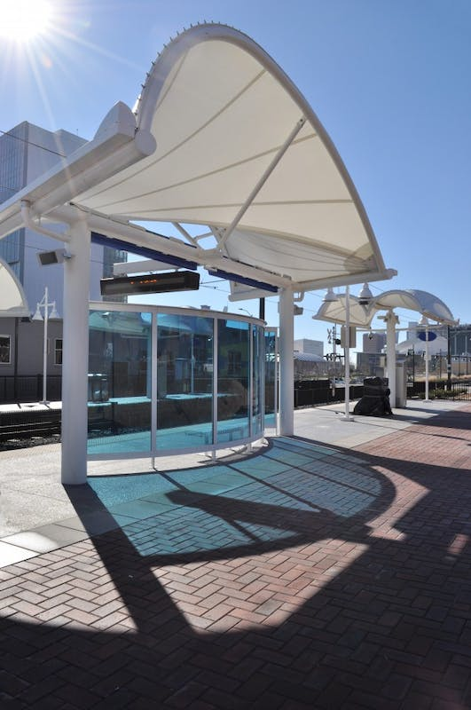 Charlotte light rail's 9th street station. Photo courtesy of Charlotte City Council member Greg Phipps.