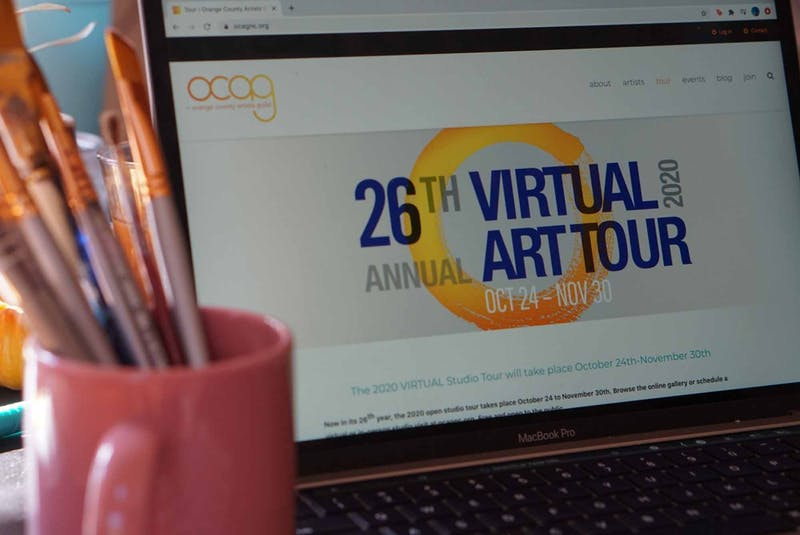 DTH Photo Illustration. The Orange County Arts Guild is hosting a variety of virtual art studio and gallery tours.