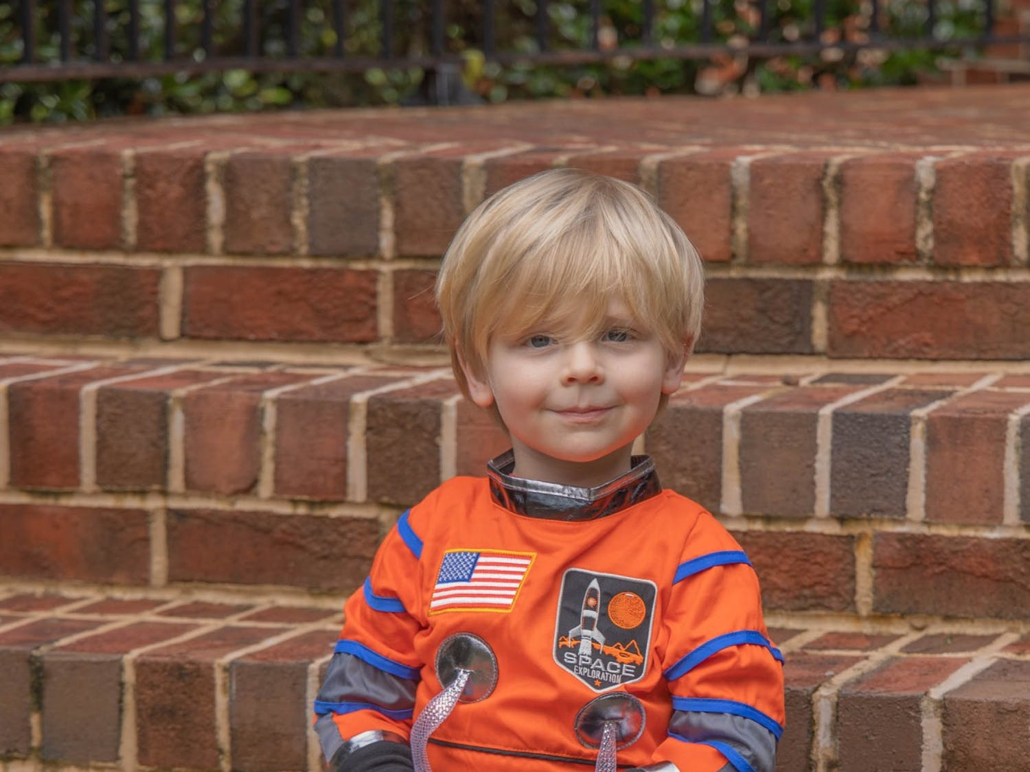 Joel Rose, 3, poses for a portrait at his home in Chapel Hill on Monday, Oct. 26, 2020. Rose's neighborhood will throw a Halloween parade this year to allow children to enjoy the holiday safely amid the COVID-19 pandemic.