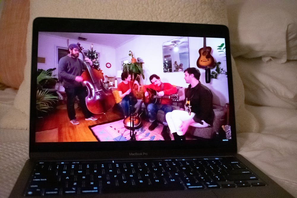 "<p>DTH Photo Illustration. The band Mipso gives a virtual concert as a part of their ""Living Room Tour,"" which allows fans to watch the band play while also keeping everyone safe during the COVID-19 pandemic.</p>"