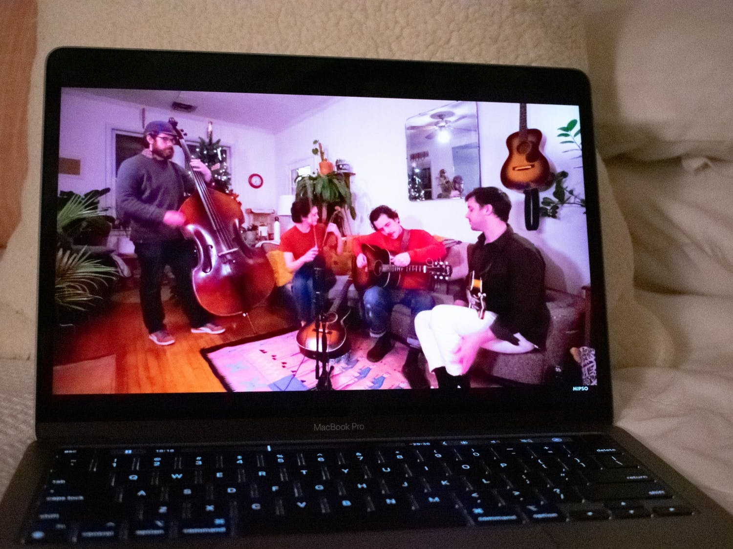 """DTH Photo Illustration. The band Mipso gives a virtual concert as a part of their """"Living Room Tour,"""" which allows fans to watch the band play while also keeping everyone safe during the COVID-19 pandemic."""