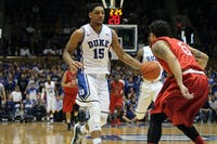Freshman center Jahlil Okafor came into the Duke program as the No. 1 overall prospect in the 2014 class. Okafor was named the AP Preseason Player of the Year.Courtesy of The Chronicle/Jesús Hidalgo