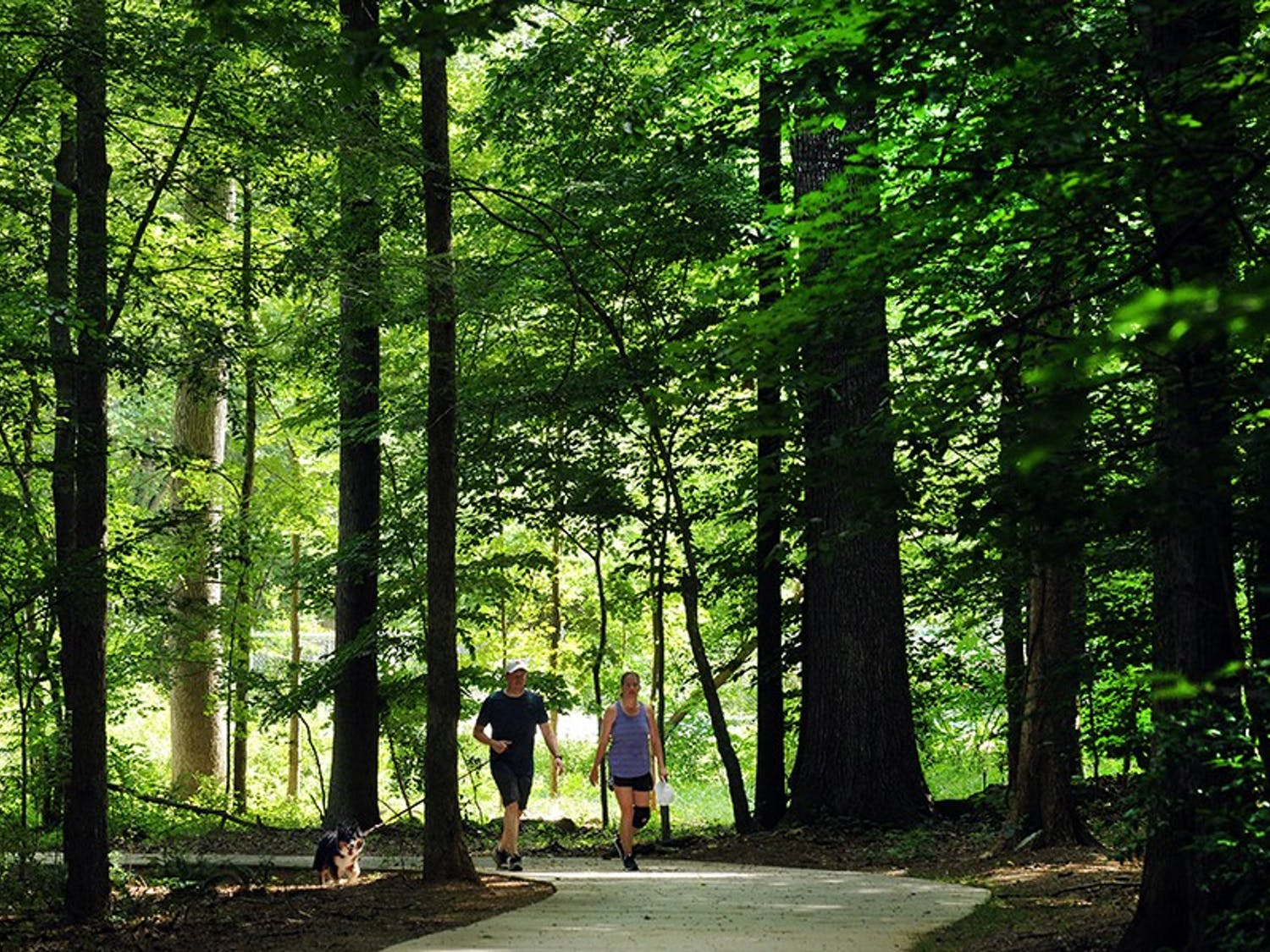 A couple walks on a local greenway in Orange County. Photo courtesy of Wes Tilghman.