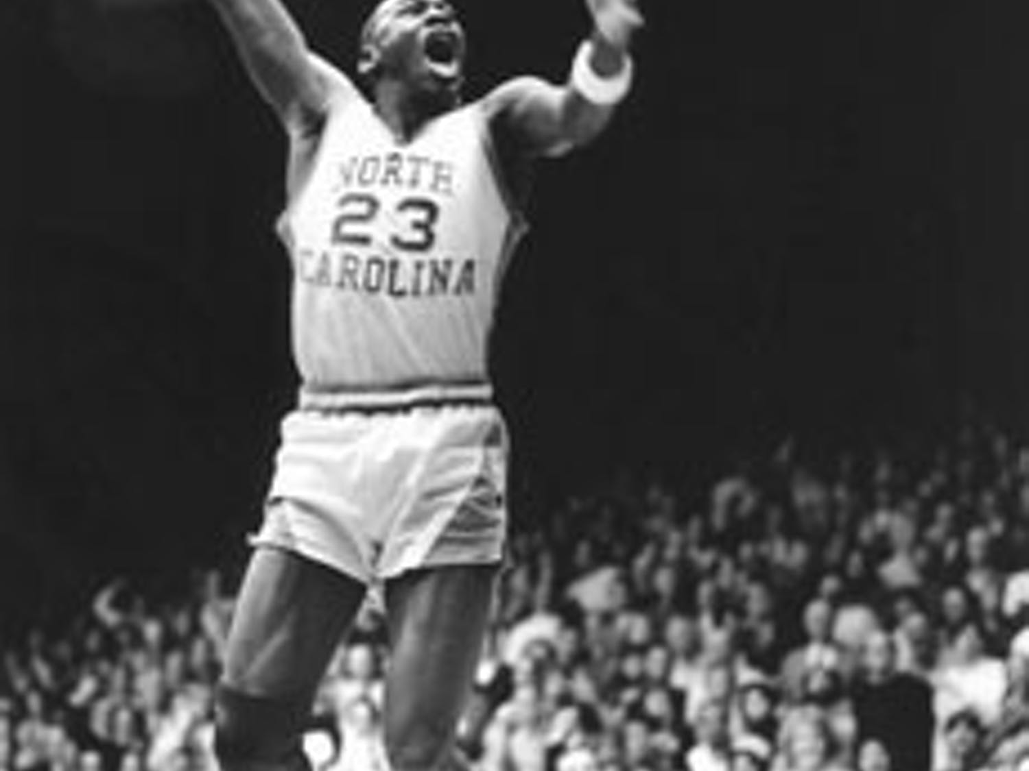 """All over the world wherever you go it's Michael Jordan, 23 and North Carolina.""  Dick Baddour,  UNC athletic director"