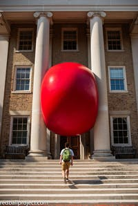 The Ackland brought RedBall by artist Kurt Perschke to the UNC community as part of its 60th birthday celebration. Photo by Jack Sorokin.