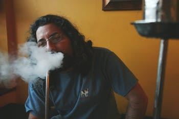 Adam Bliss, owner of Hookah Bliss, is defying legislation and keeping his doors open. DTH/Andrew Johnson