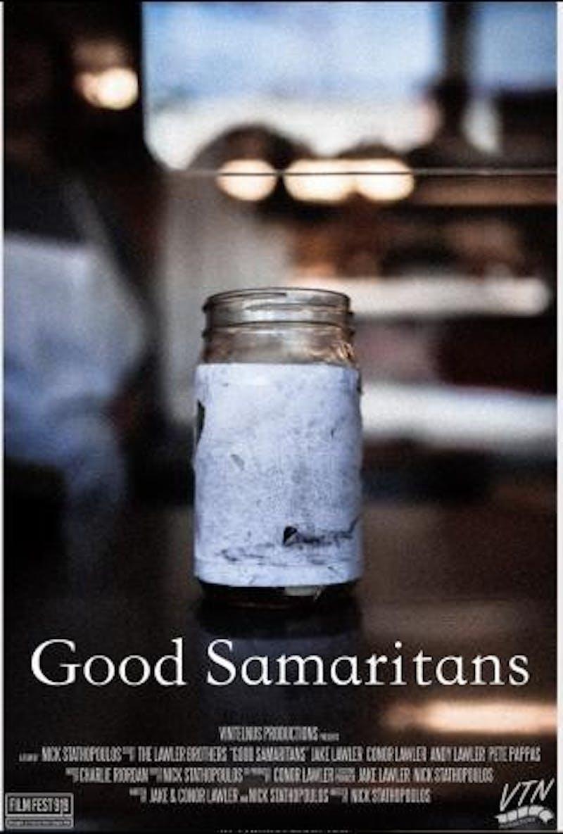 "The poster for UNC alumnus Jake Lawler's ""Good Samaritans,"" one of the 15 films at Film Fest 919. Photo courtesy of Film Fest 919."