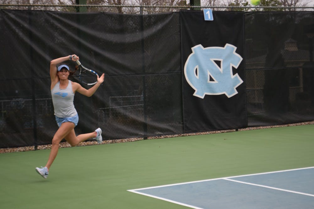 UNC women's tennis overpowers N.C. State, 5-2, to open ACC play