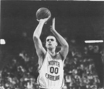 "Eric Montross played at North Carolina from 1990-94, capturing a national championship in 1993 and helping the Tar Heels upset Duke in the famous ""bloody Montross"" game. DTH File."