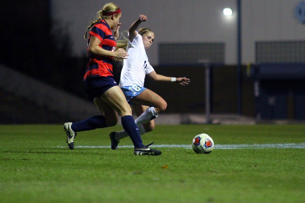 UNC women's soccer player shines in second start of the year