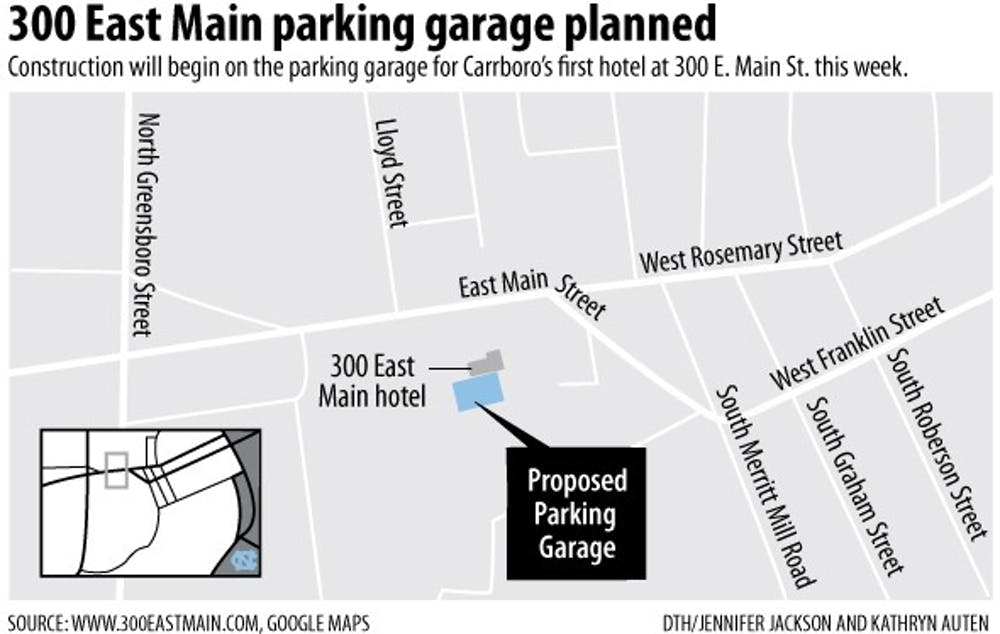 Carrboro parking deck construction to close parts of East Main Street