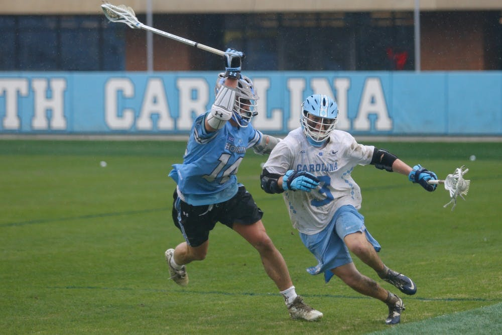 In inaugural game at UNC Lacrosse Stadium, No. 20 UNC men's lacrosse defeated, 12-10